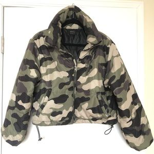 Forever 21 Camo Puffer Jacket